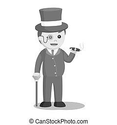 Fat rich man with cigar