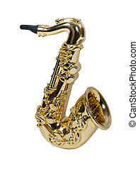 Fat Saxophone - Fat Brass saxophone with standard keys and...