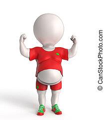 Fat sportsman