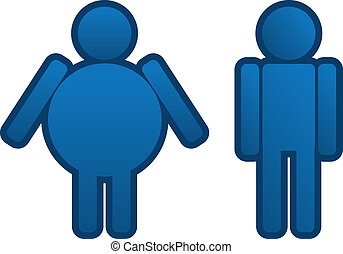 Fat to Thin Man  - Fat to thin blue man icon