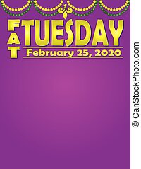 Fat Tuesday 2020 Background - Fat Tuesday 2020 Purple ...