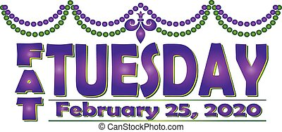 Fat Tuesday February 25, 2020 Banner