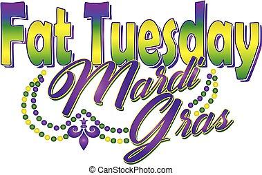 Fat Tuesday Mardi Gras Banner