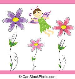 fata, fiore