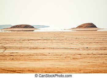 fata morgana, in, sahara wüste, tunesien