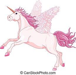 fata, unicorno