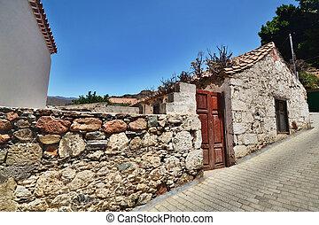 Fataga. Town in the mountains