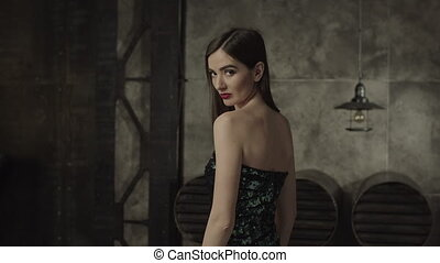 Fatal beauty woman looking mysterious and vamp