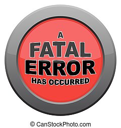 Fatal Error Dark Metal Icon