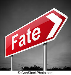 Fate concept. - Illustration depicting a sign with a fate...
