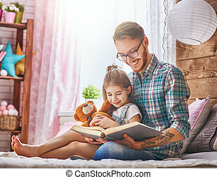 daddy reading a book