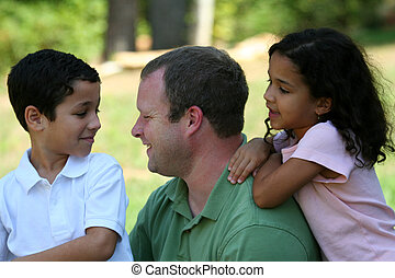 Father and Children - A father with his children