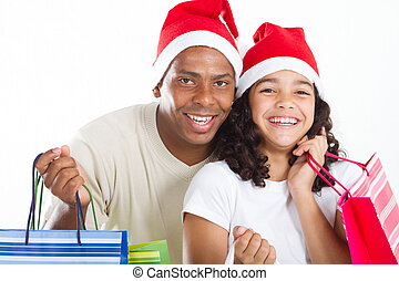 father and daughter Christmas