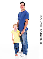 father and daughter full length