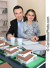 Father and daughter in architect firm