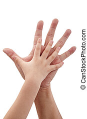 Father and daughter's hand