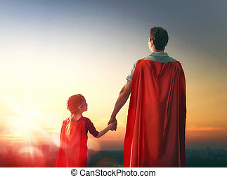 Father and his daughter - Happy loving family. Father and...