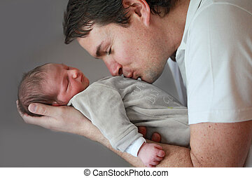 Father and Newborn