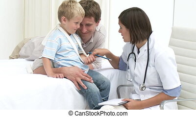 Father and Son visiting a doctor