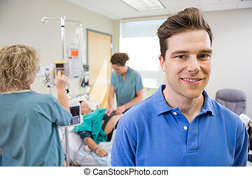 Father at Hospital During Child Birth