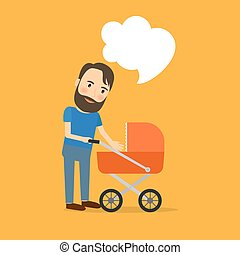 Father care for the child