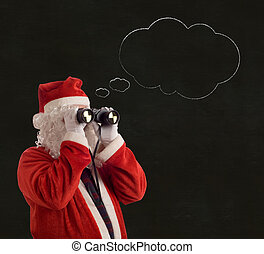 Father Christmas Business Strategy idea thought bubble -...