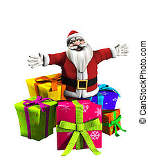 Father Christmas With Presents - Father Christmas with a lot...