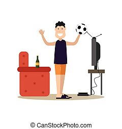 Father concept vector illustration in flat style