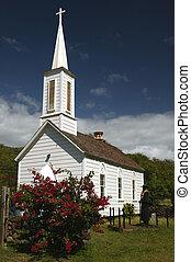 Father Damien's Church on Molokai in Hawaii