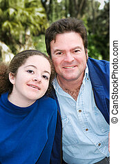 Father Daughter Outdoor Portrait