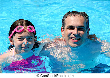 Father daughter pool