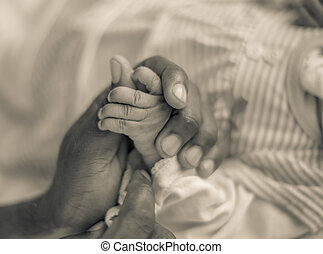 Father & Daughter's hands - Strong and loving fathers hand...