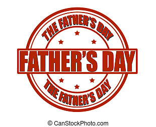 Father day - Stamp with text father day inside, vector...