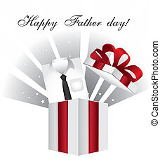 father day - t shirt with gift, happy fathers day card....