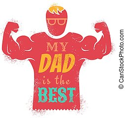 father day - Vintage greeting card for father day with best...