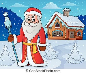 Father Frost theme image 6 - eps10 vector illustration.