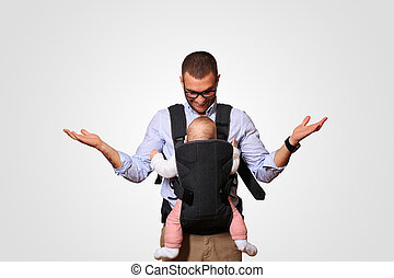 Father holds a baby