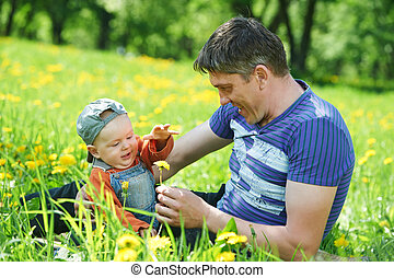 Father playing with child boy - Happy father playing with...