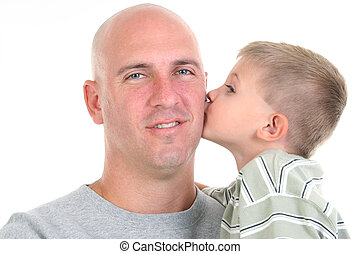 Father Son Kiss