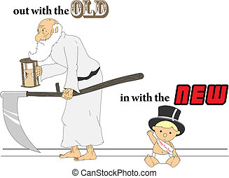 Father Time and Baby New Years - Out with the old, in with...