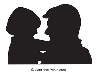 father with child - father and child illustration