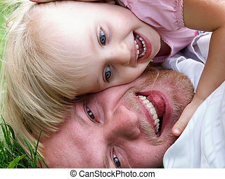 Father with daughter - Portrait of the happy father with 2...