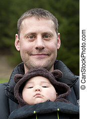 Father with Front Baby Carrier