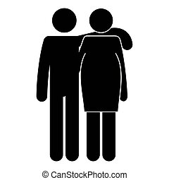 father with mother pregnancy silhouettes