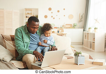 Father Working from Home