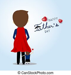 Father's day card design vector illustration super dad