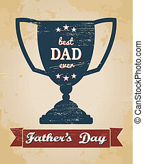 Greeting card design for Father's Day.