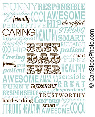 Father's Day Card - A typography design greeting card for...
