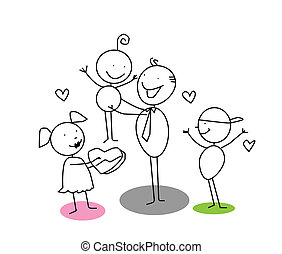 fathers day cartoon vector