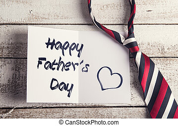 Fathers day composition - Happy fathers day sign on paper ...